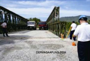 Bailey bridge(cb-200, double lanes, double layers, clear width 7,35m)