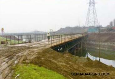 bailey bridge for the high-speed railway