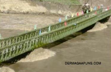 bailey bridge(CB-200,108m long,single span60.96m,QSR img 2